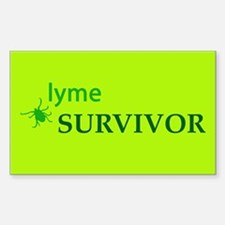Lyme Survivor Rectangle Decal