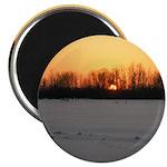 """Winter Sunset 0208 2.25"""" Magnet (10 pack)"""