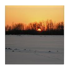 Winter Sunset 0208 Tile Coaster