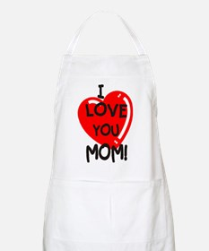 I Love You Mom BBQ Apron
