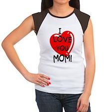 I Love You Mom Women's Cap Sleeve T-Shirt