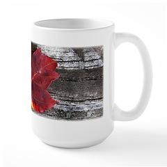 Red Autumn Leaf Mug