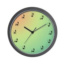 Wall Clock with Twelve Notes