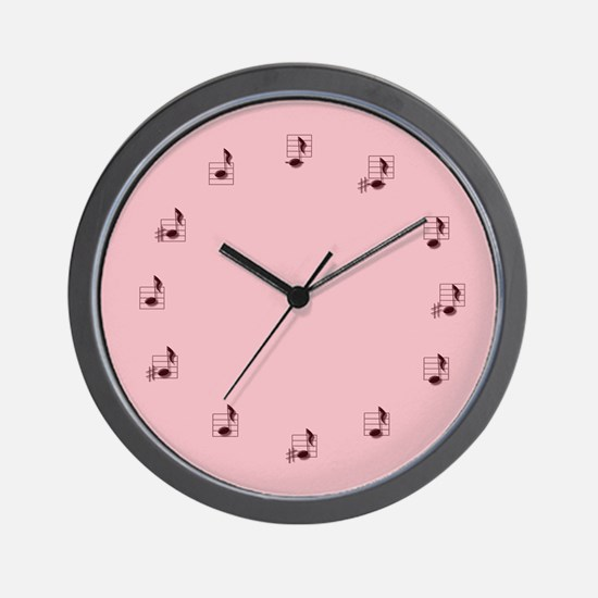 Wall Clock in pink