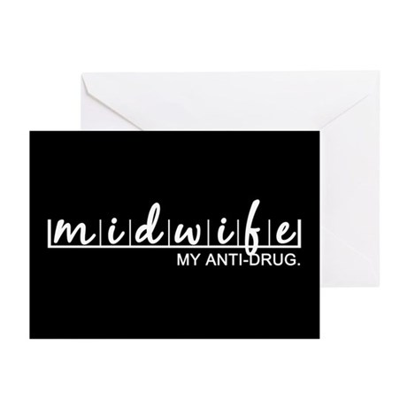 Midwife, My Anti-Drug Greeting Cards (Pk of 10)