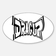 DRAG UP Oval Decal