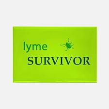 Lyme Survivor Rectangle Magnet