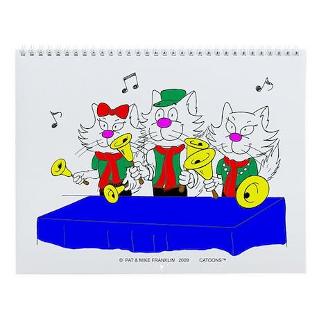 Bell Choir Cat Wall Calendar