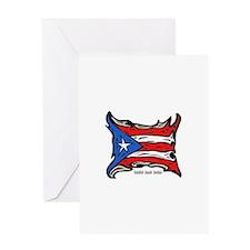 Puerto Rico Heat Flag Greeting Card
