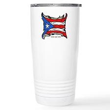 Puerto Rico Heat Flag Ceramic Travel Mug