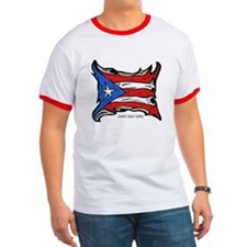 Puerto Rico Heat Flag T