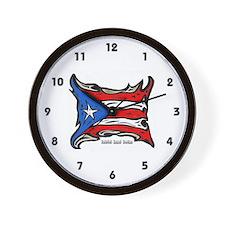 Puerto Rico Heat Flag Wall Clock