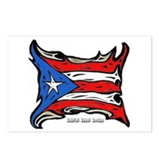 Puerto Rico Heat Flag Postcards (Package of 8)