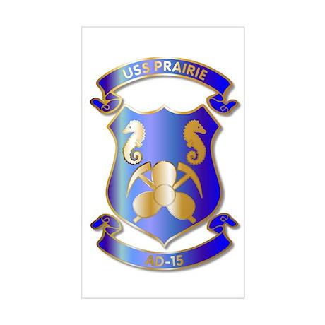 USS Prairie AD-15 Rectangle Sticker