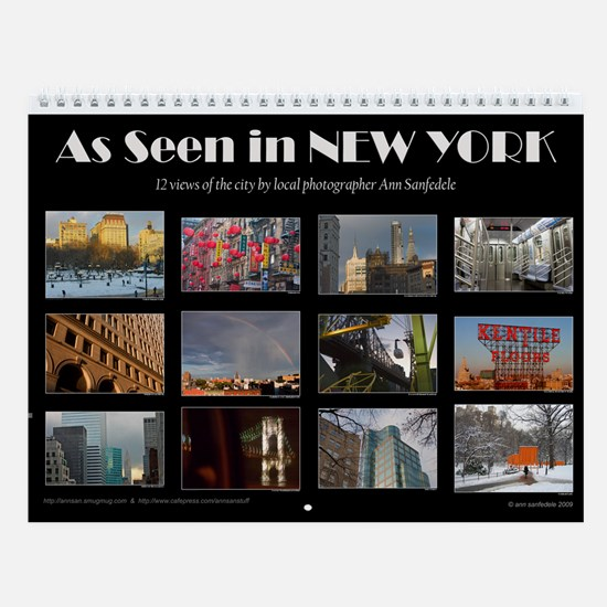 As Seen in New York Wall Calendar