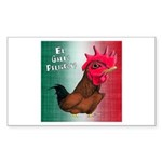 El Gallo Peligroso Rectangle Sticker 10 pk)
