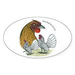 Sebrights Oval Sticker (10 pk)