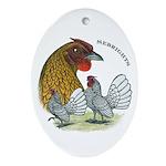 Sebrights Oval Ornament