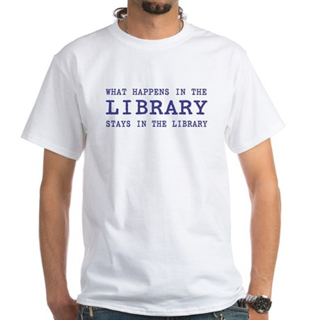 In the Library White T-Shirt
