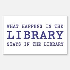 In the Library Rectangle Decal