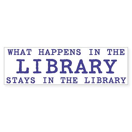 In the Library Bumper Sticker (10 pk)