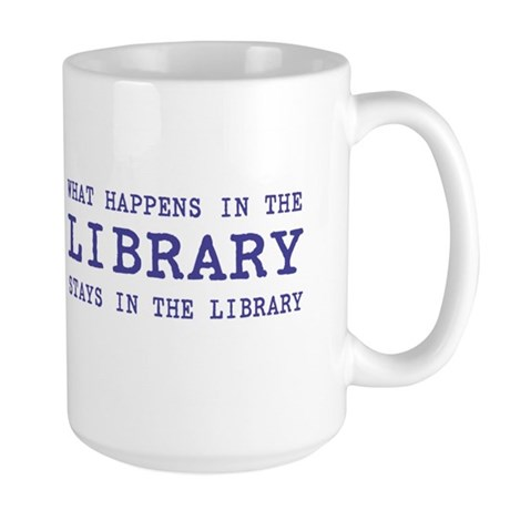 In the Library Large Mug