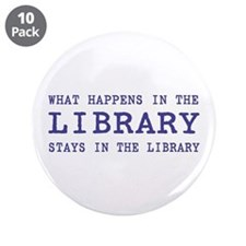 """In the Library 3.5"""" Button (10 pack)"""