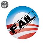 "Obama Fails 3.5"" Button (10 pack)"