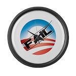 Obama Fails Large Wall Clock