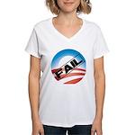 Obama Fails Women's V-Neck T-Shirt