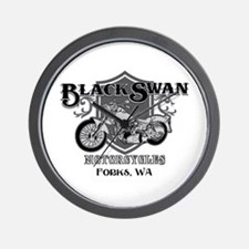 Black Swan Motorcycles Wall Clock