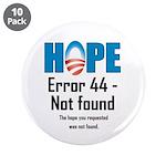"""Error 44 - Not Found 3.5"""" Button (10 pack)"""