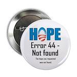 """Error 44 - Not Found 2.25"""" Button"""