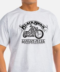 Black Swan Motorcycles Vintag T-Shirt