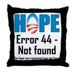 Error 44 - Not Found Throw Pillow