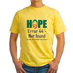 Error 44 - Not Found Yellow T-Shirt