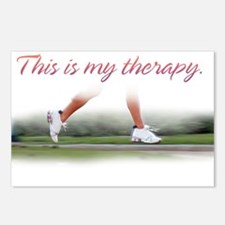 RUNNING THERAPY FEMALE RUNNER Postcards (Package o