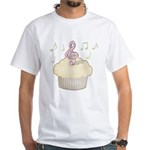 Cupcake Music White T-Shirt