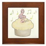 Cupcake Music Framed Tile