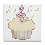 Cupcake Music Tile Coaster