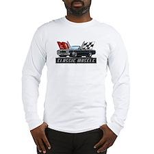 '67 Black Chevelle Convertibl Long Sleeve T-Shirt