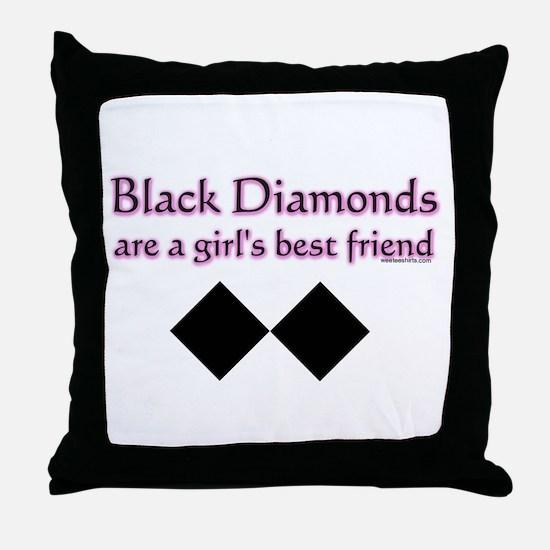 Cute Black diamond Throw Pillow
