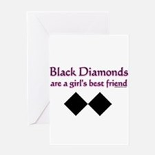 Unique Black diamonds Greeting Card