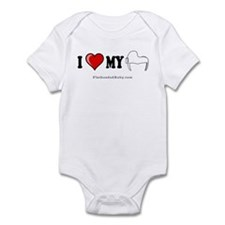 I Love My Helmet (Graphic) Infant Bodysuit