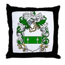 Broderick Coat of Arms Throw Pillow