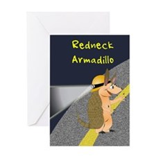 Redneck Armadillo Greeting Card