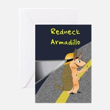 Redneck Armadillo Greeting Card