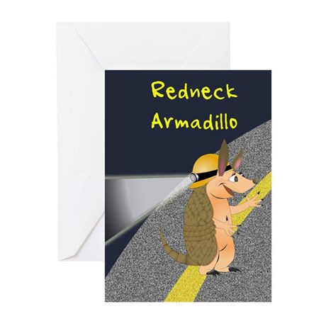Redneck Armadillo Greeting Cards (Pk of 10)