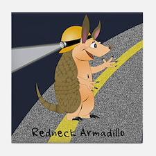 Redneck Armadillo Tile Coaster
