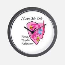 I LOVE MY LIFE Wall Clock